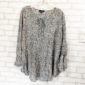 Suzanne Betro floral blouse size 1x